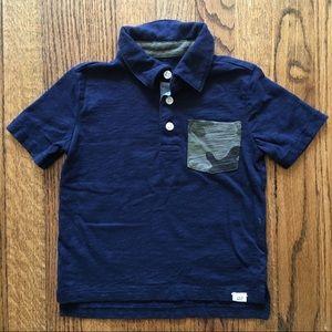 Baby Gap Short Sleeve Polo w/ Camo Pocket